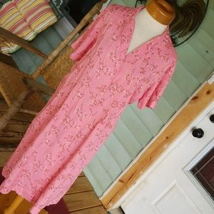 Blair Pink Floral Dress Size large